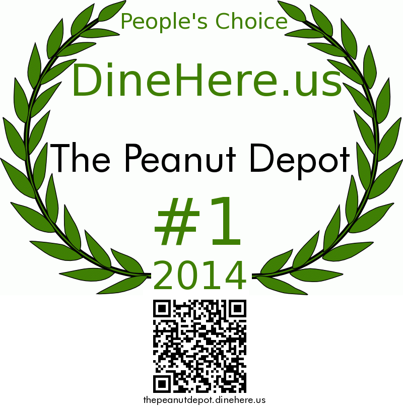 The Peanut Depot DineHere.us 2014 Award Winner